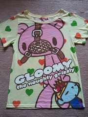 GLOOMY  総柄半袖Tシャツ メール便可