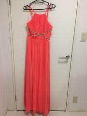 LIPSY サワーオレンジ ロングドレス us8
