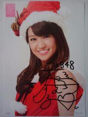 大島優子 サイン入A4サイズ写真 フレーム入