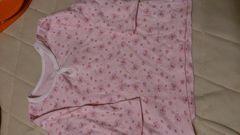 即決☆90�aピンクの激カワ長袖シャツ