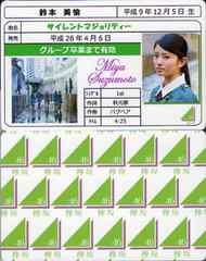 鈴本美愉 サイレントマジョリティー 免許証カード 欅坂46