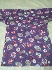 ☆処分品紫×江戸粋和柄大人用ダボシャツS