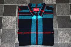 希少 レア 黒M 07F/W Supreme Oversize Plaid Flannel Shirt