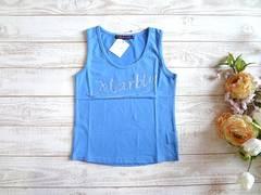 新品 MARBLE WALTZ 水色 ロゴ タンクトップ ブルー