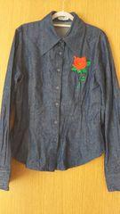 韓国ブランドDISKEEN-SURE☆ジーンズシャツ