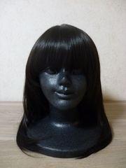 送無◆シャギー 前髪ぱっつん 耐熱 ウィッグ ボブ ブラック