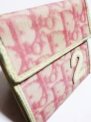 クリスチャンディール/Dior タロット柄ナンバー革製二つ折り財布