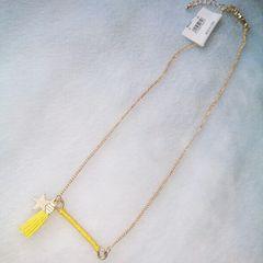 黄色フリンジ&星モチーフネックレス*新品未使用