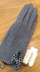 """""""冬支度に""""新品タグつき*千鳥リボンデザイン手袋 グレー"""