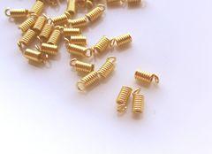 カツラ/コードエンド20個C(内径1.8�o)ゴールド