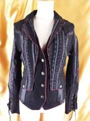 4OzzOnスカル柄編み上げショートジャケットF定¥14.490
