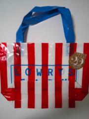 ローリーズファーム 赤ストライプ  ビニールショップ袋