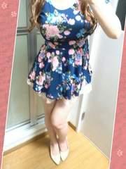 お花柄の姫可愛ネイビーミニワンピ(*/ω\*)