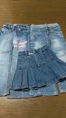 110cm ジーパン/スカート 3点セット