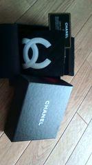 即決新品★確実正規CHANEL/シャネル*カンボンライン�Aつ折ショキピン財布黒×白
