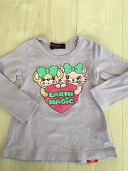 EARTHMAGICアース☆マフィ&ピンキーAラインTシャツ100