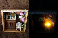 ミニチュアハウス レトロアンティーク ワイン LED ライト