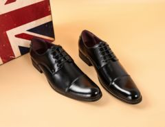新品 日本製 本革 ストレート紳士靴【1180】25-28CM(BLK270)
