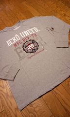 ECKOUNLTD デザインロゴ刺繍 グレーロングTシャツ サイズ3XL XXXL 新品