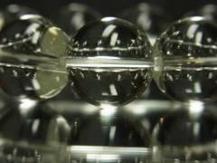 空間のパワーとオーラを浄化!!本水晶クリスタル18ミリ数珠ブレスレット