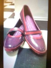 新品 レディースシューズ 紫 パープル エナメル 23�p くつ 靴