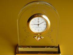 MIKIMOTOミキモト本真珠パールガラス製置時計インテリアアンティーク調