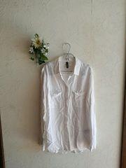 値下げ☆H&M☆ロールアップ袖ホワイトシャツ
