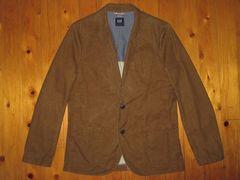 ギャップGAP 染め加工テーラードジャケット ブラウン M