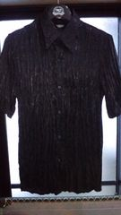 GACKT氏愛用 新品シースルーの半袖皺加工のシャツ 送料無料