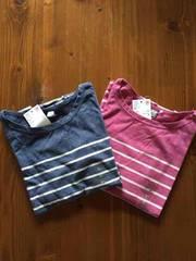 新品★ユニクロ ボーダーロングTシャツ 2枚セット