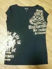 ★&byP&D★半袖Tシャツ★カラー/黒×ゴールド★美品