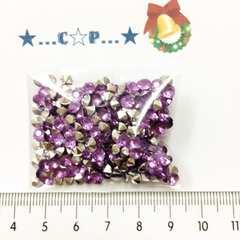 9*�@スタ*オリジナルチャトン型アクリルストーン*300粒以上*紫*160
