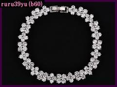 b60/贅沢・AAA級スイス産CZダイヤモンド/ 高級ブレスレット