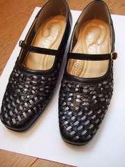 パンプス 靴 外反拇趾 柔らか素材 柔らか靴 美品 レディース 靴