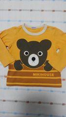 ミキハウス♪黄色くまちゃん長袖シャツ♪90�p