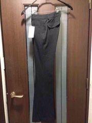 新品SS★パンツ★黒にストライプ/夢展望/パンツスーツの下だけ