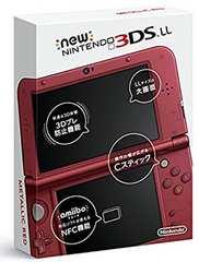 未使用/NEW 3DS LL メタリックレッド 充電器付 送料込み