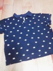 ダディーDaddy Oh Daddy紺色に白の星柄Tシャツポロシャツ100サイズ