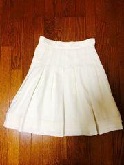キスミス☆白フレアスカート☆ふんわり膝丈スカート35