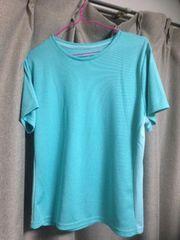 美品ティーシャツ 水色3L