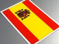 1□スペイン国旗ステッカー☆1枚即買☆
