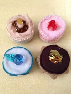 モバオク:冷蔵庫 ミニケーキ4個セット、ケースマグネット付き★