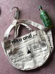 美品niko and...キャンパス地2wayトートバック