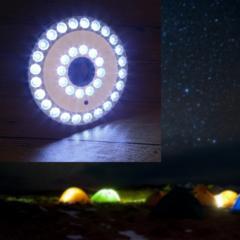 【送料無料】単3電池式高輝度ポータブル36LEDランタンライト◆キャンピングライト