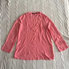 ZARA ザラ 美品 カットソー ブラウス 春色 ピンク