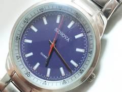 9534/SENOVA珍しいパープルカラーダイヤルメンズ腕時計格安出品