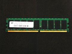 ★メモリ マイクロン PC2-5300E 1GB