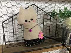 猫ちゃん 飾り ナチュラル ハンドメイド