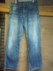 リーバイス503色落ちジーンズ太めストレート