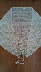 ワールド 大きいサイズ レース編みドルマンカーディガン 黄色